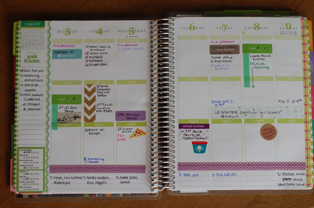 Planner, diary, schedule