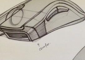 Technical sketch of the new Razer Mamba