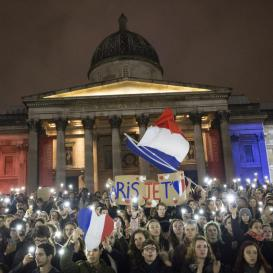 An image of a vigil in Trafalgar square