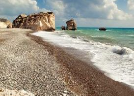 Petra tou Romiou, Cyprus, winter sun, holiday