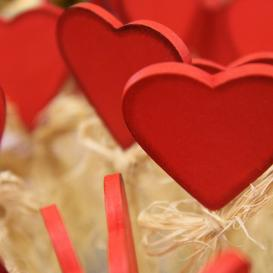 hearts on sticks