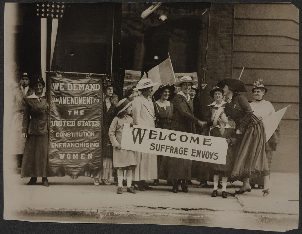 Women in San Francisco protesting for their right to vote.