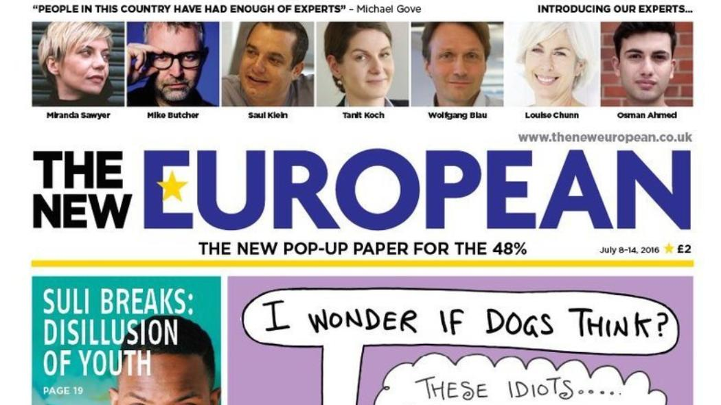 Cameron Ridgway. the new european, pop-up paper, archant, Kettle Mag