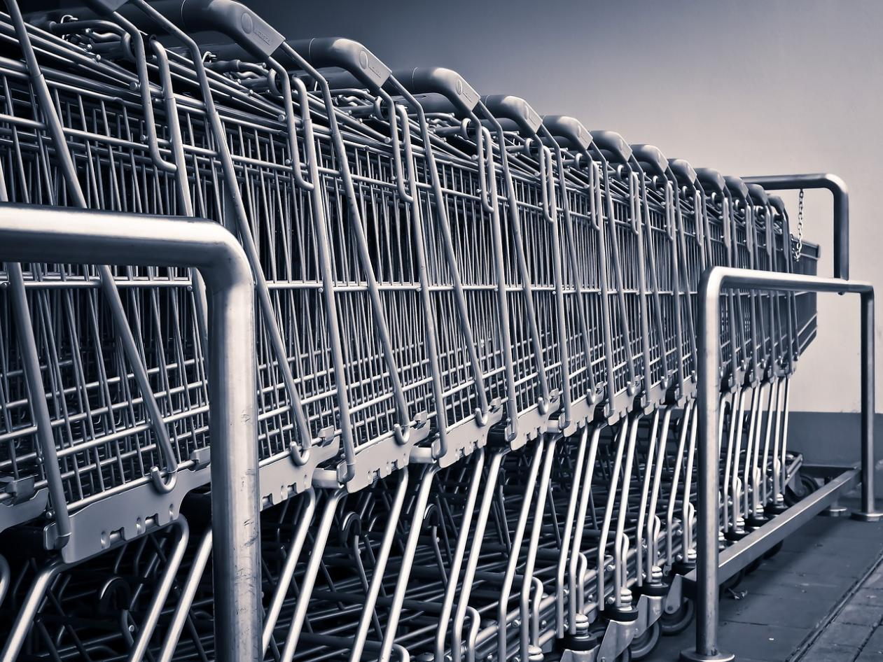 shopping trolley, kettle mag